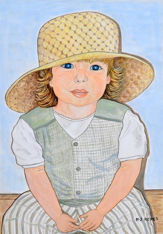 """Marie-Josée Reyes - Ophélie """"La petite fille au grand chapeau"""""""