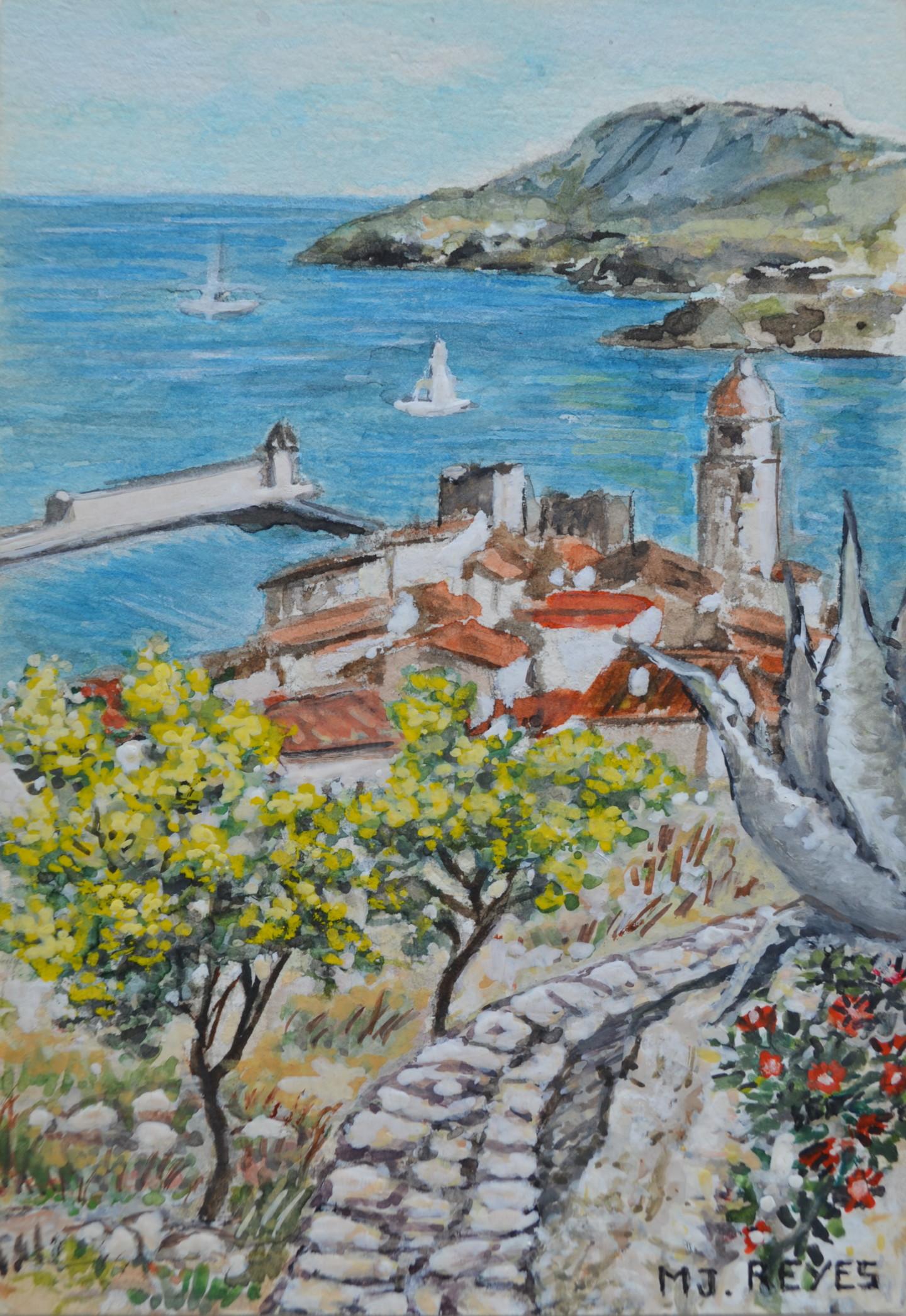 Marie-Josée Reyes - Collioure vue de la montagne