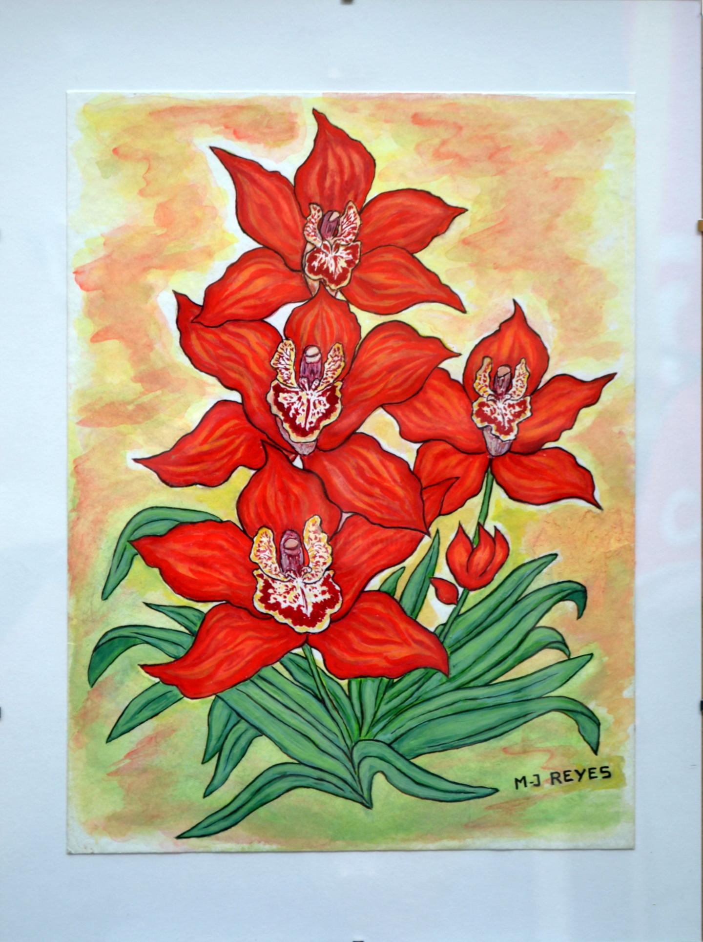 Marie-Josée Reyes - Orchidées exotiques oranges