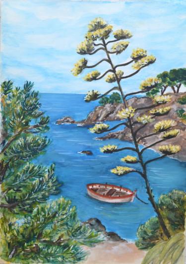 Barque dans une crique de la côte vermeille