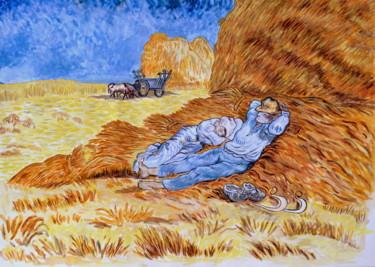 """""""La sieste"""" copie d'après l'oeuvre de Van Gogh"""